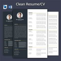 Curriculum Vitae Template Academic by Clean Resume Cv 2017 Resume Templates Creative Market