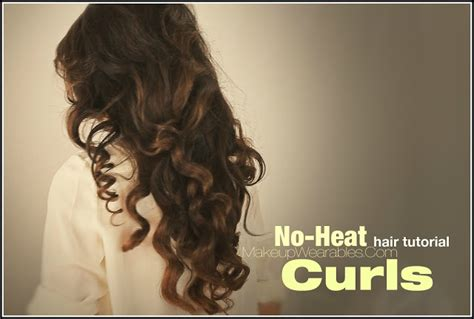 Wedding Hairstyles No Curls by Hairstyles How To No Heat Curls Hair