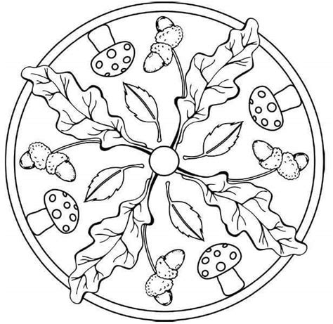 autumn mandala coloring pages autumn mandalas 6 171 preschool and homeschool