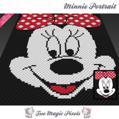 pattern usage en francais minnie portrait crochet blanket pattern by twomagicpixels