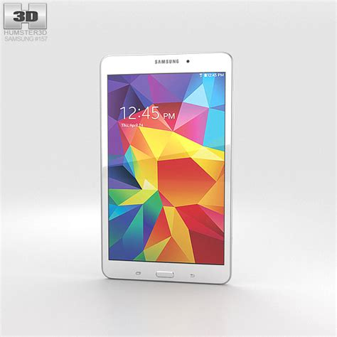 Samsung Tab 4 8 Inch Second Samsung Galaxy Tab 4 8 0 Inch White 3d Model Hum3d