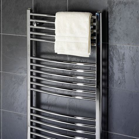 bathroom towel rads prestige all electric towel rail chrome curved