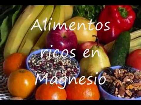 alimentos ricos en magnesio youtube