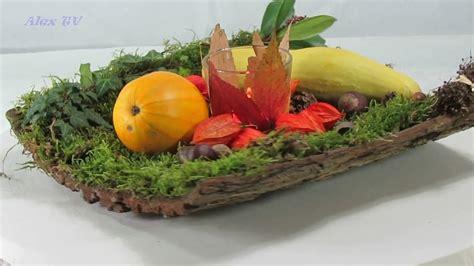 tischdekoration einfache herbstdeko mit naturmaterialien