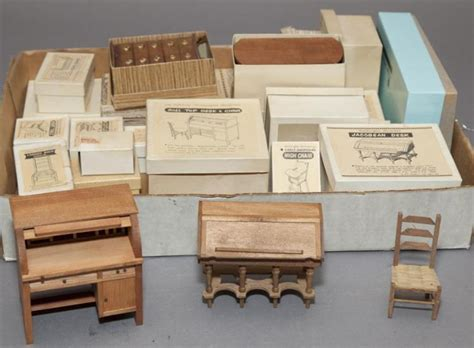 collectors dolls house furniture large collection of miniature doll house furniture