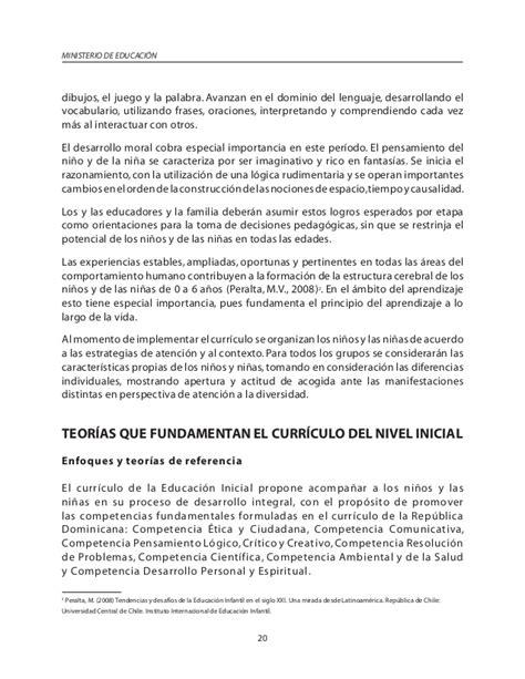 Diseño Curricular Dominicano 2014 Curriculo Inicial Educacion Dominicana 2014