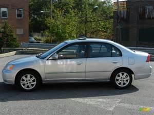 satin silver metallic 2003 honda civic ex sedan exterior