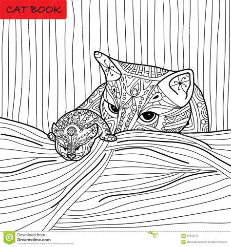 Bettdecke Gezeichnet by Katzenmutter Und Ihr K 228 Tzchen Malbuch F 252 R Erwachsene