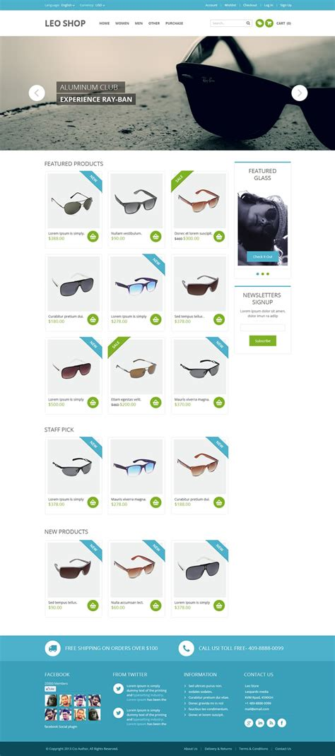 Free Online Shop Website Template Psd 187 Css Author Store Web Template