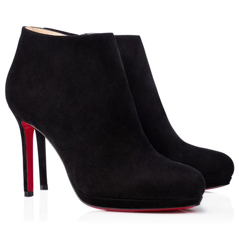 cheap christian louboutin top 100mm suede ankle