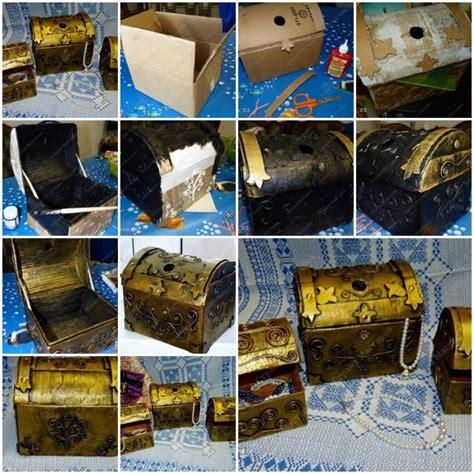 how to make cardboard jewelry treasure box step by step diy tutorial thumb how to