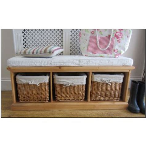 tetbury hall bench tetbury hallway storage bench hallway wicker baskets shoe