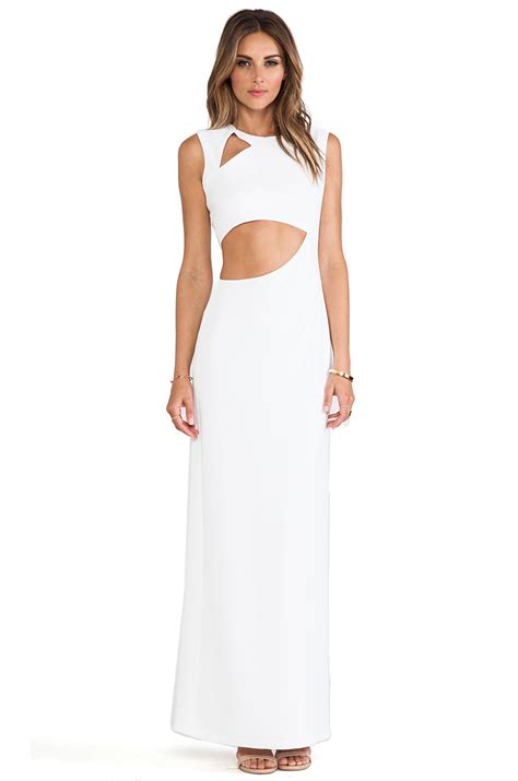 Maxi Kimora lyst bcbgmaxazria kimora cut out maxi dress in white