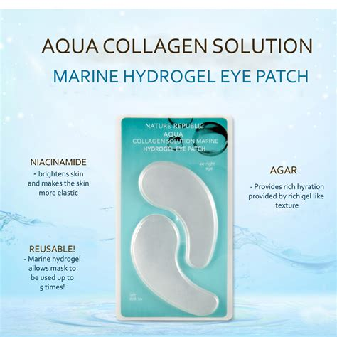Collagen Eye Patch nature republic aqua collagen solution marine mik