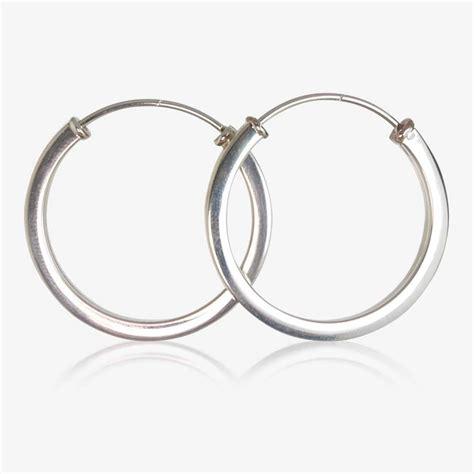 Sterling Silver Square Earrings sterling silver square hoop earrings