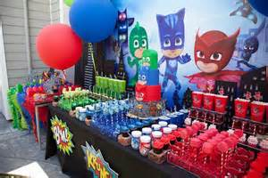 kara party ideas pj masks superhero birthday party kara party ideas