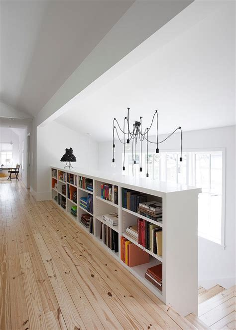 landing banister indoor stair railing half wall joy studio design gallery