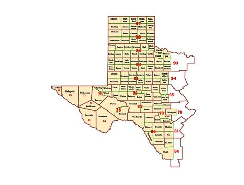west texas cities map wims county id maps