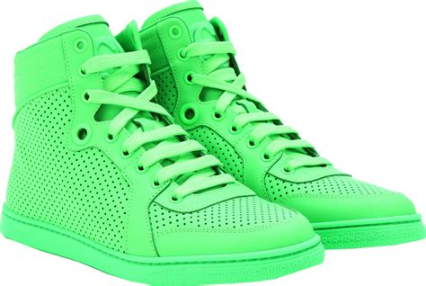 neon green sneakers how to wear your gucci neon green leather high top