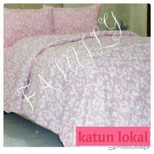 jual beli sprei motif ulir pink ukuran 180x200x20 cm baru