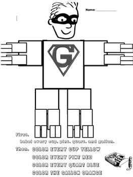 gallon template gallon worksheet by panda money teachers pay teachers