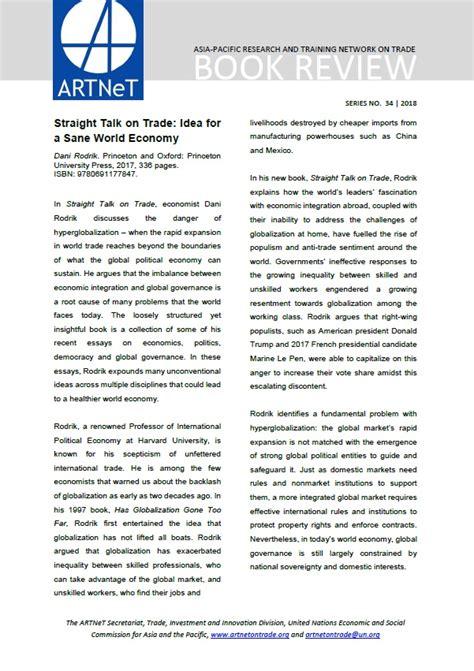 libro straight talk on trade book reviews artnet