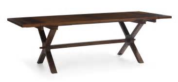17th century style wooden extendable dining table with x
