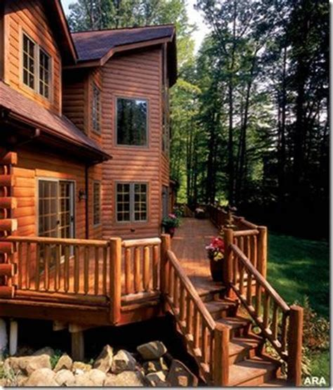 log cabin home with wrap around porch big log cabin homes pinterest the world s catalog of ideas