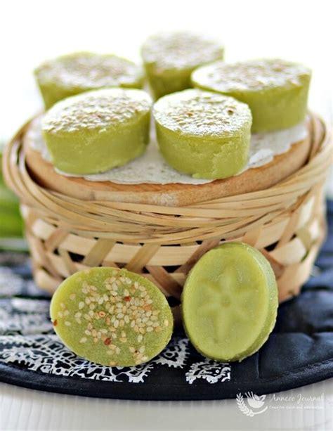kuih bakar pandan kuih bakar pandan baked pandan cake 烤香兰糕 anncoo journal