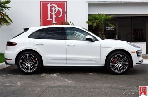 porsche macan 2016 white 2016 porsche macan turbo white black leather 8 838