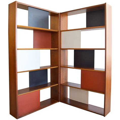 room divider bookcase room divider or hinged bookcase by clark for glenn of california at 1stdibs