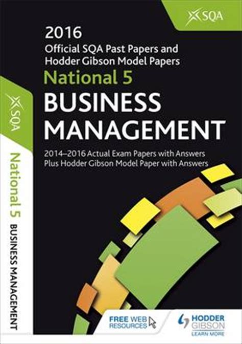libro national 5 business management national 5 business management 2016 17 sqa past papers with answers by sqa waterstones