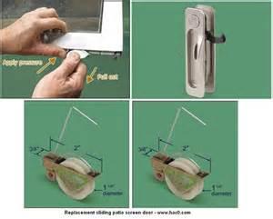 Patio sliding screen door replacement parts