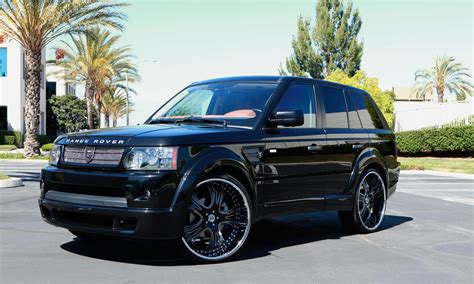luxury black range rover lexani wheels the leader in custom luxury wheels 2010