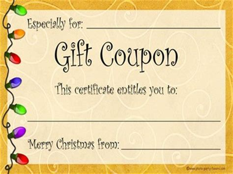 The Use Of Printable And Digital Gift Coupon & Gift Coupon