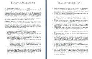 tenancy contract template tenancy agreement template formsword word templates