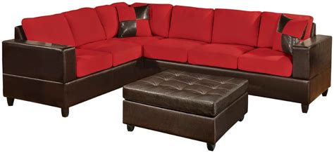 red faux leather sectional sofa red couch red sectional couch
