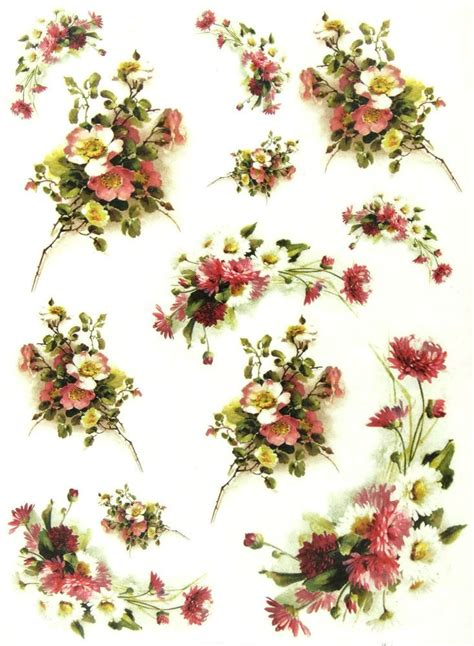 Decoupage Paper Flowers - 735 best images about decoupage kwiaty on