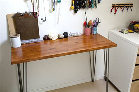 diy hairpin leg desk decoist