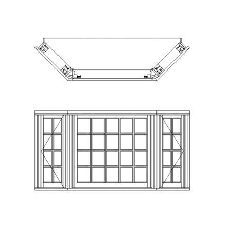 Bay Window Elevation Drawings bay window cad dwg cadblocksfree cad blocks free