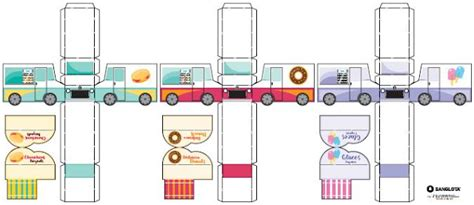 Food Papercraft - papermau the food trucks paper collection for
