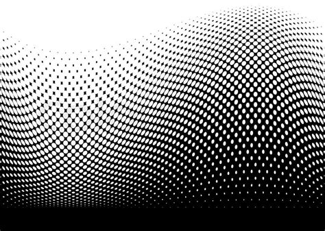 dot pattern wave abstract black modern surf wave made with halftone dots