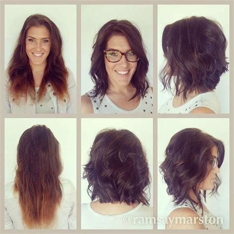 long bob haircuts before and after before and after long bob textured bob waves hair by