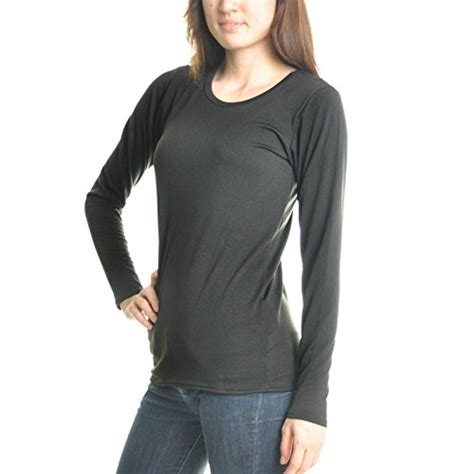 Fleece Lined Sleeve Top s fleece lined sleeve thermal top