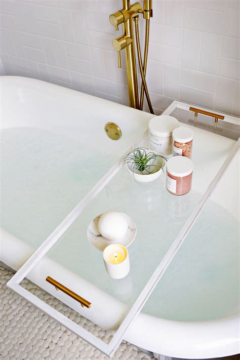 best bathtub caddy lucite bathtub caddy diy a beautiful mess