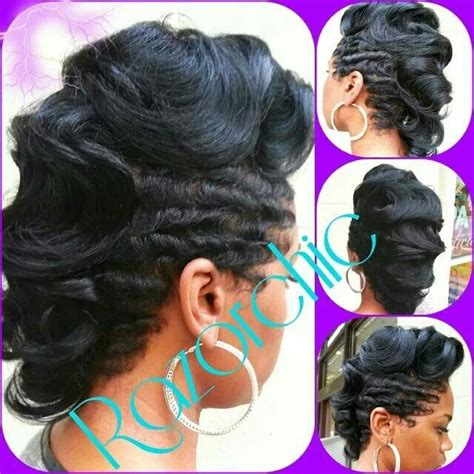 ocean waves hairstyles for black women finger wave mohawk all hair black hair styles make up