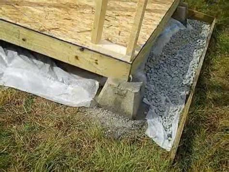 Shed Foundation Diy by How To Build A Shed Building The Foundation
