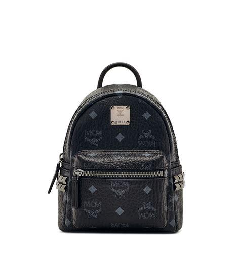 Mcm Bebeboo Black xmini stark backpack in cognac by mcm