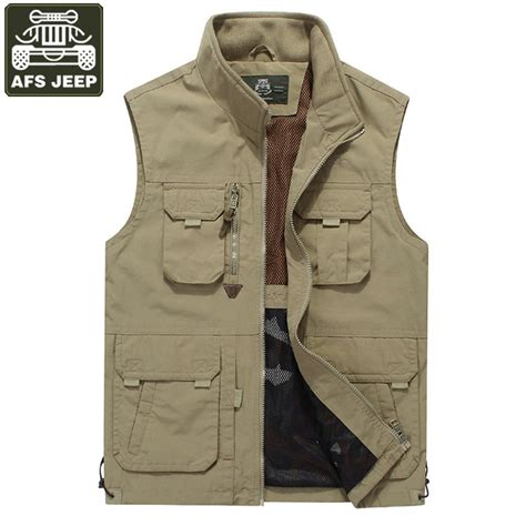 Rompi Hoodie afs jeep brand vest colete masculino waistcoat with many pockets breathable working tactical