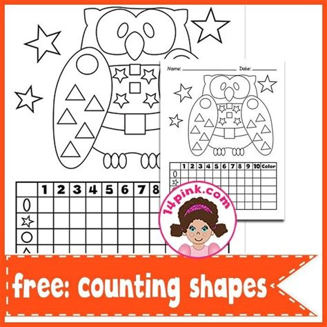printable owl shapes free counting shapes printables owl classroom math